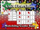 Fractions: Unit Fractions Matching Game Sort - Superstars Theme - King Virtue