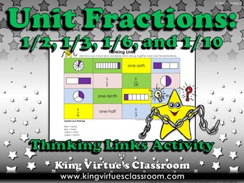 Fractions: Unit Fractions Thinking Links Activity #1 - 1/2, 1/3, 1/6, and 1/10