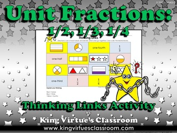 Fractions: Unit Fractions Thinking Links Activity #2 - 1/2