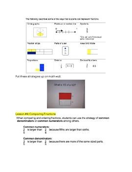 Fractions Unit Grade 5