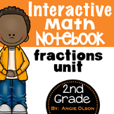 Fractions Second Grade Math Notebook