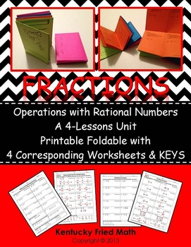 Fractions Unit Operations w Rational No. Printable Foldabl