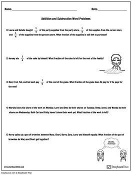 Fractions Worksheet Packet