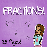 Fractions Worksheet Packet