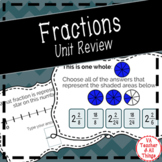 Fractions Unit Review Boom Cards Distance Learning SOL 3.2 3.5