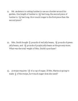 Fractions Unit Test