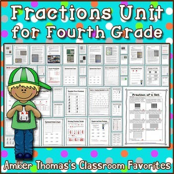 Fractions Unit for Fourth Grade