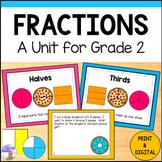Fractions Unit for Grade 2 (Ontario Curriculum)