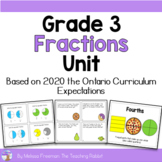 Fractions Unit for Grade 3 (Ontario Curriculum)