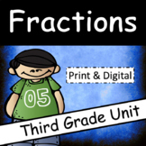 Fractions Unit for Third Grade