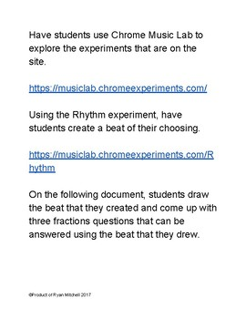 Fractions Using Chrome Music Lab