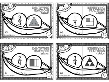 Identifying Fractions: A Visual Matching Center, 2 levels