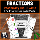 Fractions Vocabulary Interactive Notebook