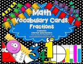 Vocabulary Cards-Fractions (Common Denominator, Simplest Form, Factors, & more!)