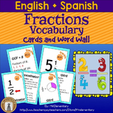 Fraction Vocabulary Trading Card Activities and Posters