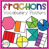 Fractions Vocabulary Posters