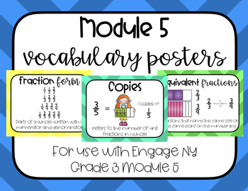 Fractions Vocabulary Word Wall Engage NY Grade 3 Module 5