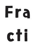 Fractions Wall Display