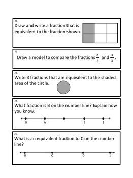 Fractions Problem Solving Journal Prompts