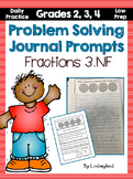 Fractions Problem Solving Journal Prompts
