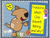 Fractions:  Which One Doesn't Belong and Why?