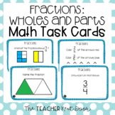 3rd Grade Fractions Task Cards (wholes and parts) | Fracti