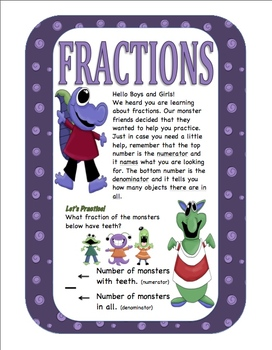 Fractions With Monsters (Beginner level)