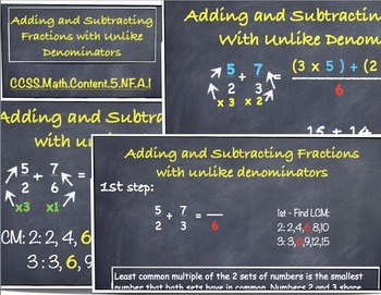 Fractions With Unlike Denominators - Math.Content.5.NF.A.1