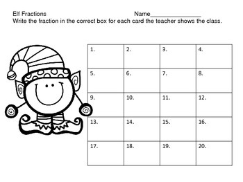 Fractions With the Elves