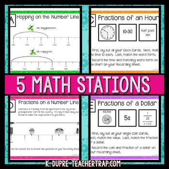 Fractions Stations and Task Cards