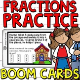 Hansel and Gretel Fractions Word Problems Boom Cards (Digi