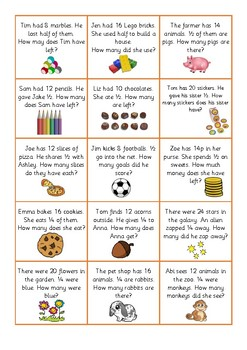 Fractions Word Problems (Differentiated!)