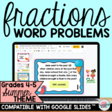Fractions Word Problems Google Classroom™ | Fractions Dist