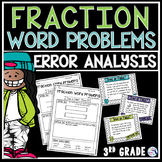Fractions Word Problems Task Cards Error Analysis Math