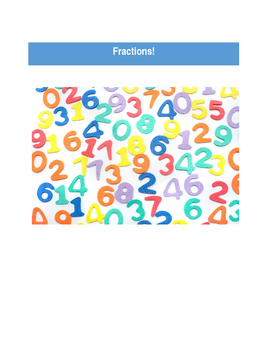 Fractions Word Problems and Rubric