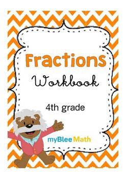 Math Workbook - Fractions - 4th Grade