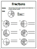 Fractions Worksheet - Great for First Day Practice!