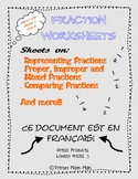 Fractions Worksheet for French Immersion