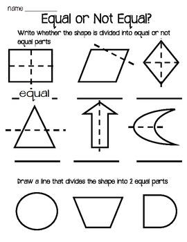 Fractions Worksheet Pack for First Graders