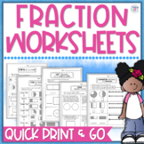 Fractions Worksheet Packet - 3rd Grade
