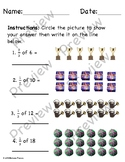 Fractions Worksheet - Solve and Circle