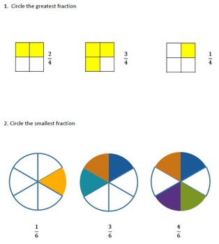 Comparing and ordering fractions worksheets grade 3