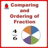 Fractions Worksheets, 3rd Grade, 4th Grade - Comparing and Ordering Fractions