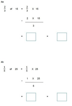 Fractions Worksheets, 4th Grade, 5th Grade - Multiplying Fractions