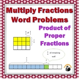 Fractions Worksheets 5th, 6th Grade Multiplying Proper Fra