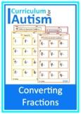 Converting Fractions Mixed Numbers Percents Decimals Autism
