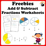 Fractions Worksheets Freebie Add, Subtract and Solve Word