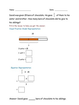 Fractions Worksheets Freebie Multiplying Fractions and Solve Word Problems