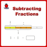 Fractions Worksheets, 4th Grade, 5th Grade - Subtracting F