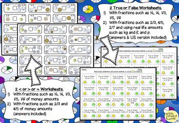 Fractions Worksheets and Games Pack